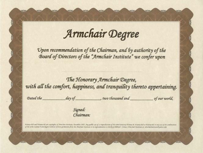 Armchair Degree