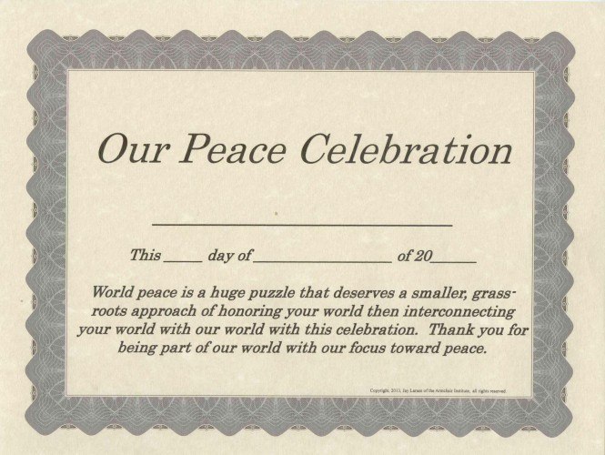 Our Peace Celebration