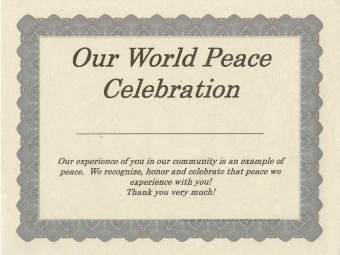 Our World Peace Celebration