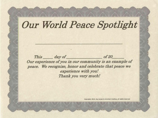 Our World Peace Spotlight