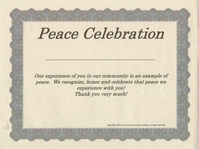 Peace Celebration