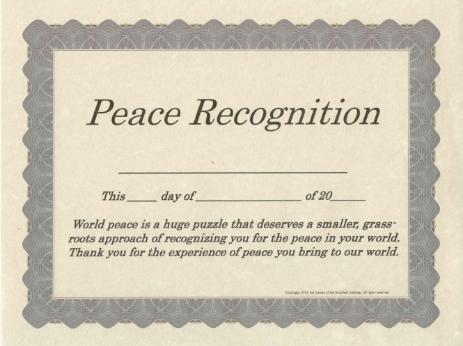 Peace Recognition