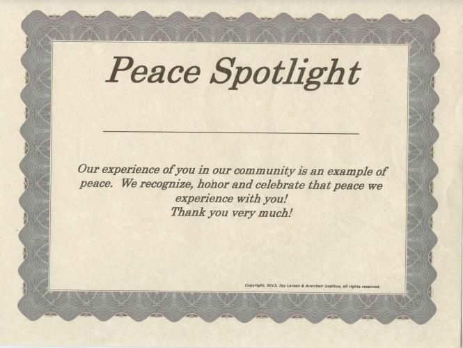 Peace Spotlight