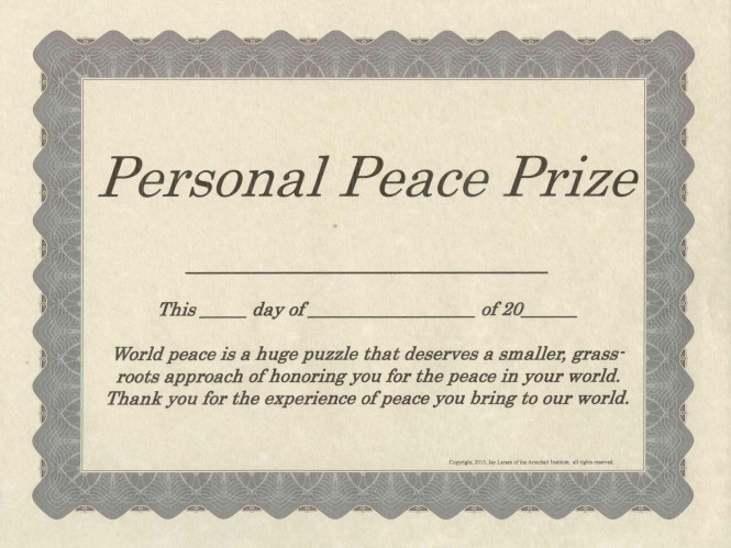 Personal Peace Prize