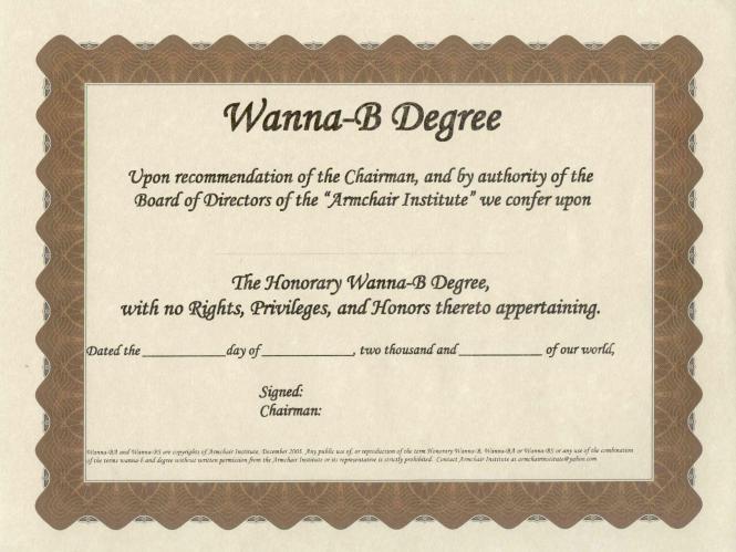 Wanna-B Degree