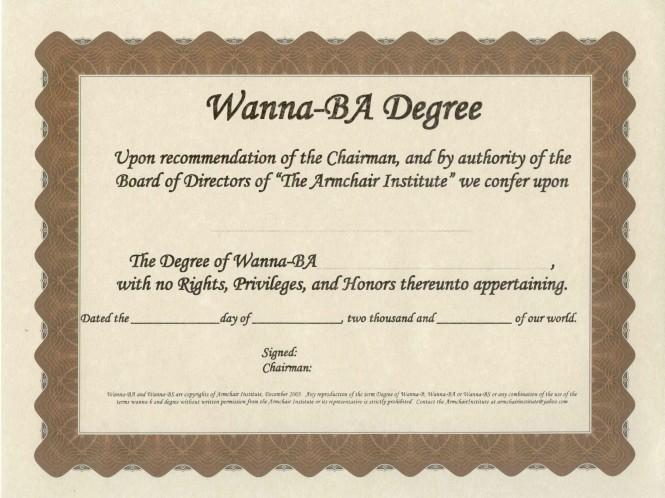 Wanna-BA Degree