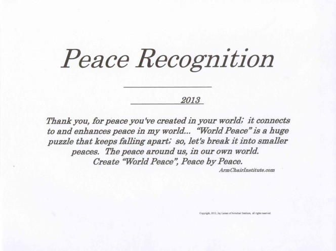 Peace Recognition Two