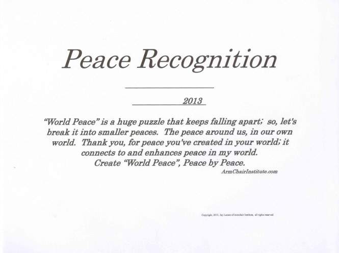 PeaceRecognition White One